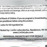 livOn lipospheric sachet 1g dose back