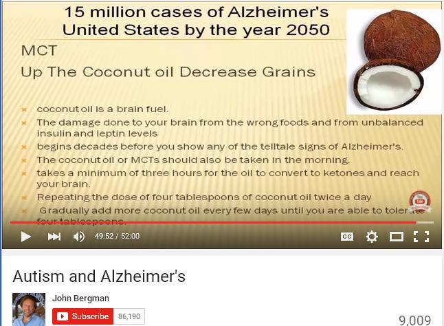 john bergman Alzheimer coconut oil